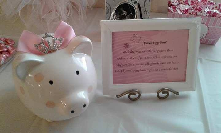 Baby Girl Piggy Bank Amp Poem For Baby Shower In 2019 Baby