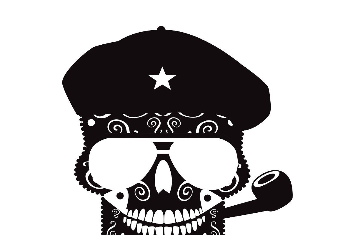 Che Guevara skull black and white , #Sponsored, #patterns#backgrounds#Sc#shirts #AD #cheguevara