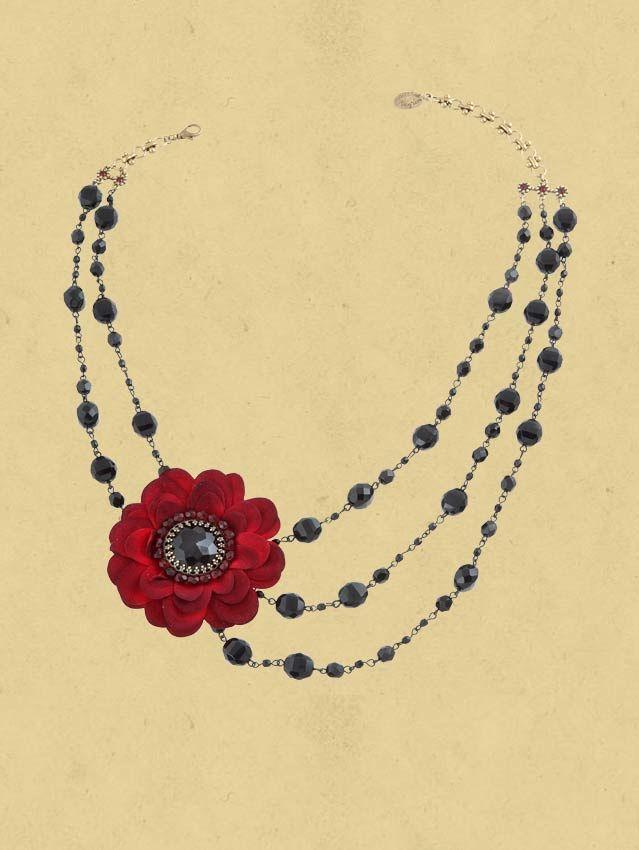 Vintage Lace Flower Necklace