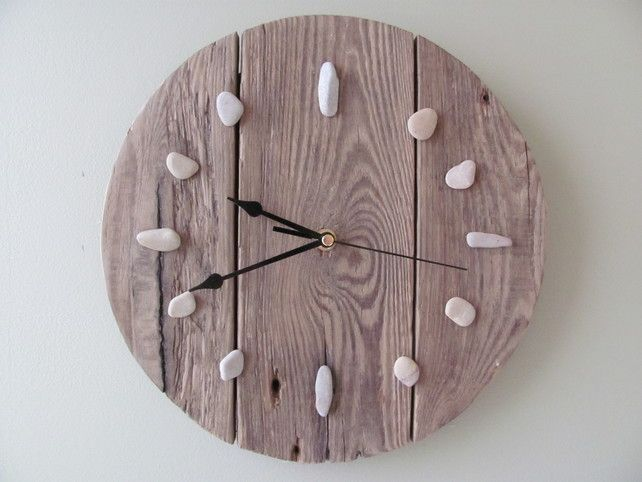 Recycled Driftwood Clock