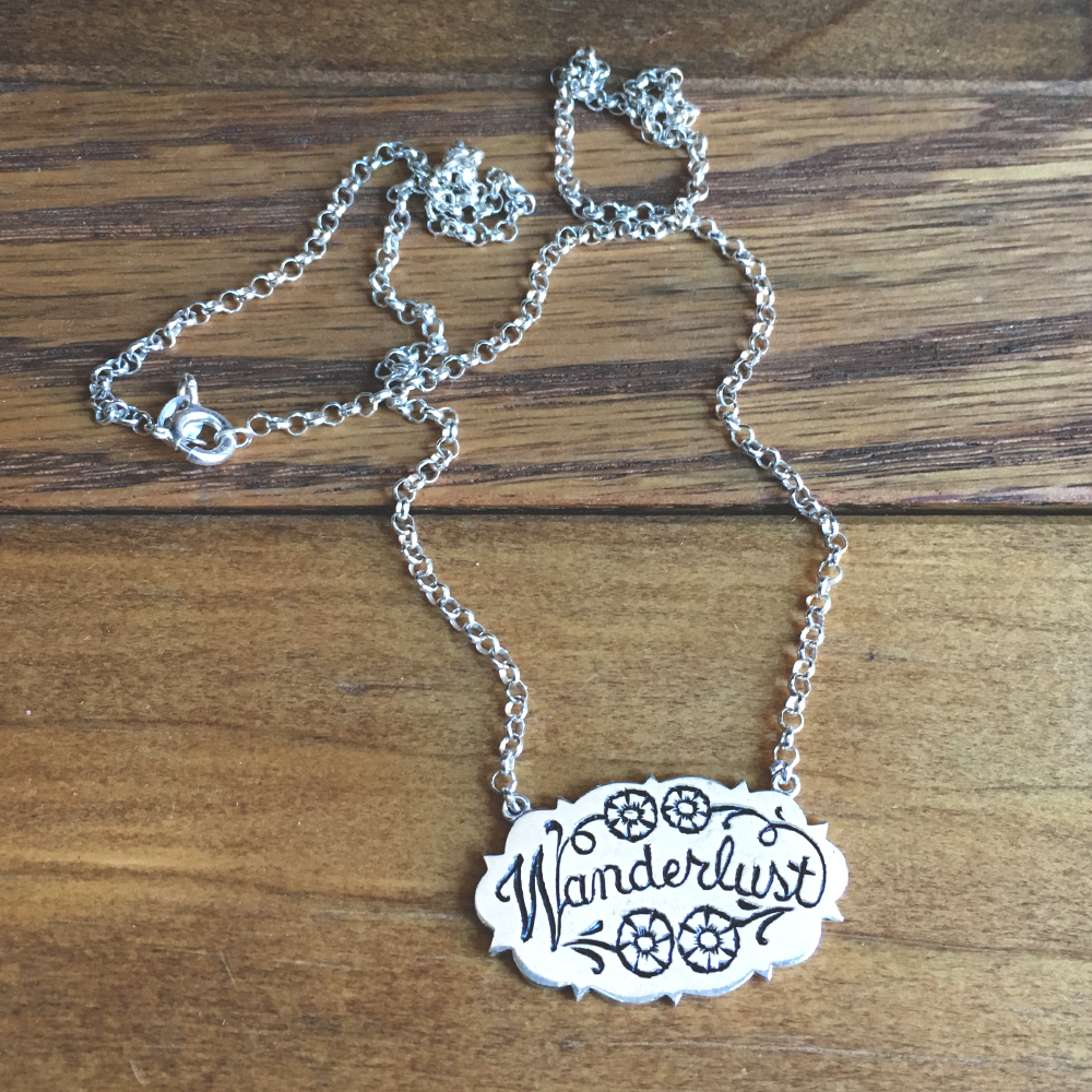 Wanderlust Necklace Gold filled chain Buddha jewelry and Hair