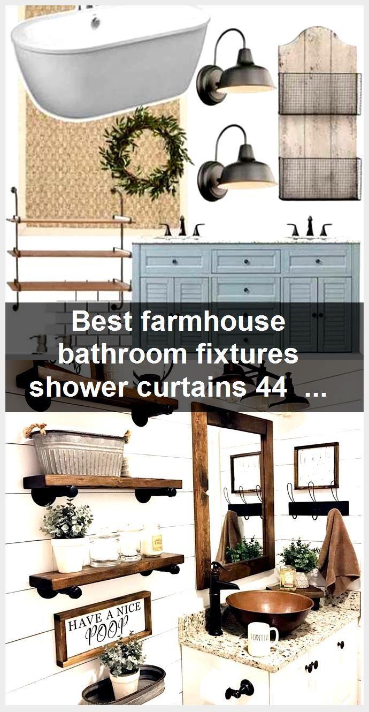 Photo of Best farmhouse bathroom fixtures shower curtains 44 Ideas,  #Bathroom #curtains #Farmhouse #F…