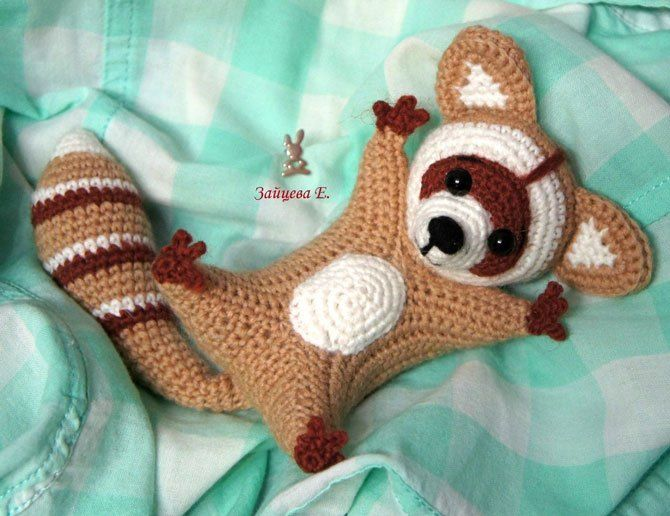 patrón de crochet de mapache | Virkat | Pinterest | Mapache ...