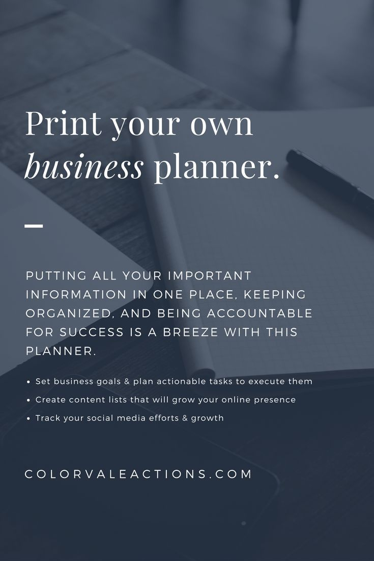 Printable Planner Get Focused Take Action Build Your Own Photographers Below Are Templates That You Can Add To Any Binder