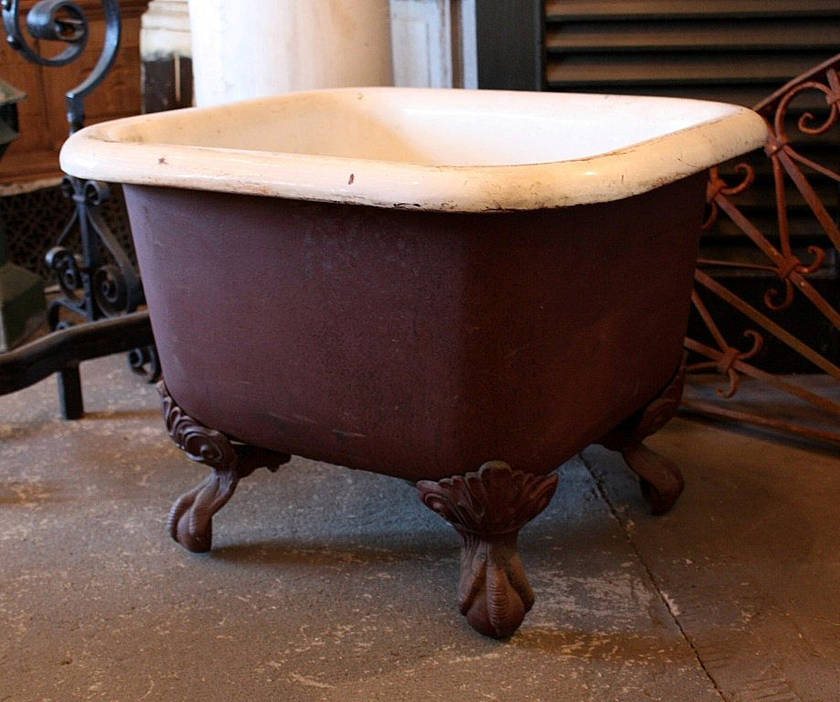 Rare Antique 19th Century Clawfoot Foot Bath With Images