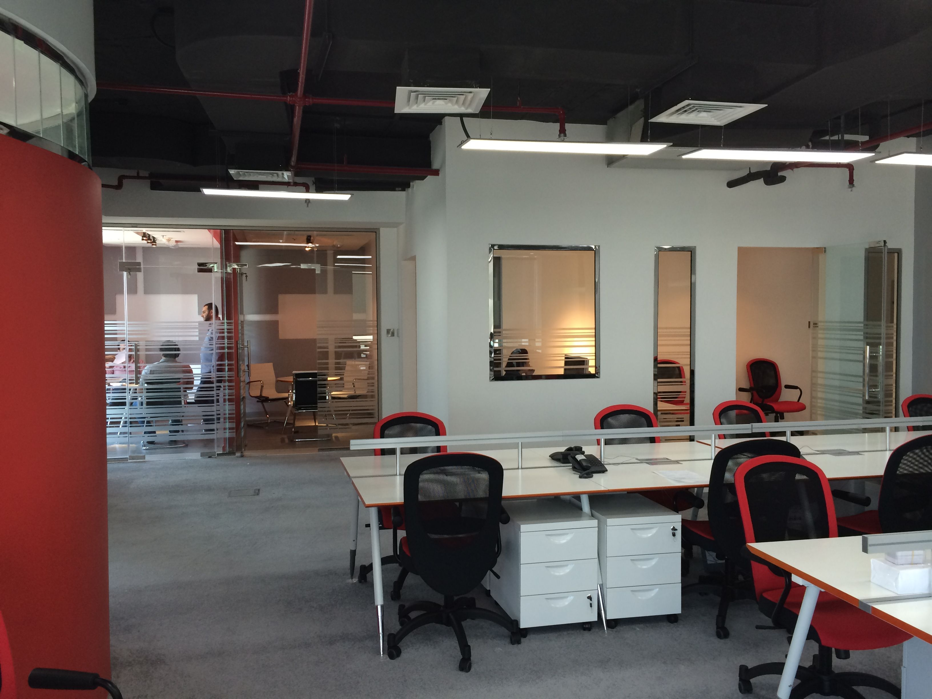 Small Office Space Solutions From Different Projects Done By Quantum Interior Design Works For Booking A Small Space Office Office Space Solutions Small Office