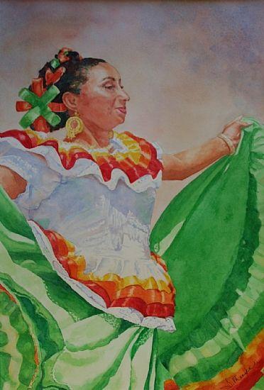 Bonita by Tammy Meeske Watercolor, framed ~ 20 x 16