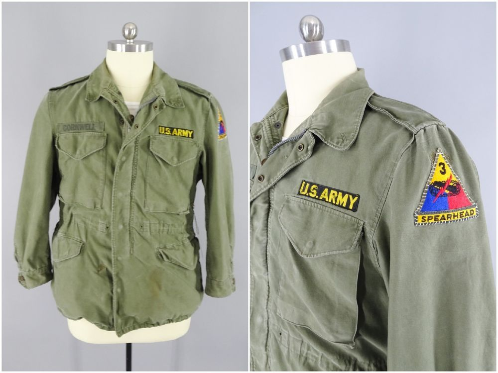 Korean War M1951 Field Jacket with 3rd Armored Division Spearhead