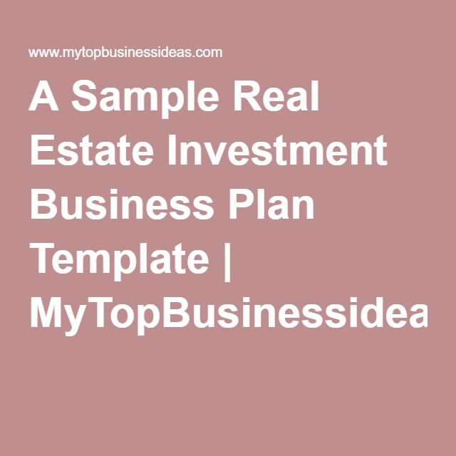 writing a business plan for real estate investment