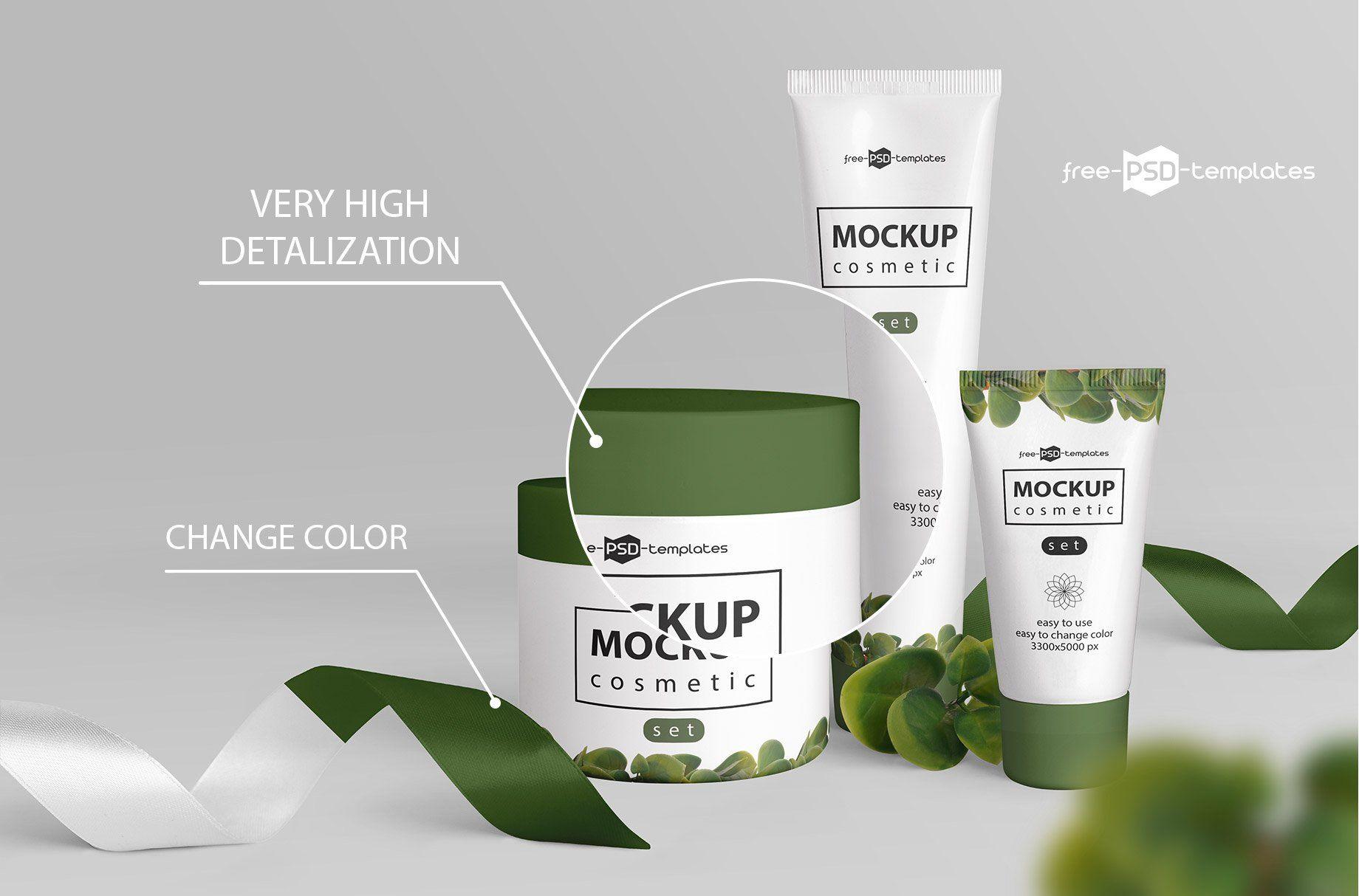Cosmetic Mockup Set Cosmetics mockup, Free cosmetics