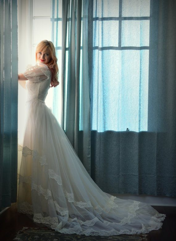 Vintage Wedding Dress Fairytale Princess Bridal by DaintyRascal ...