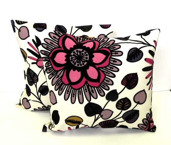 Pillow Covers Set of Two 18x18  Black velvet by GaranceCouture, $58.00