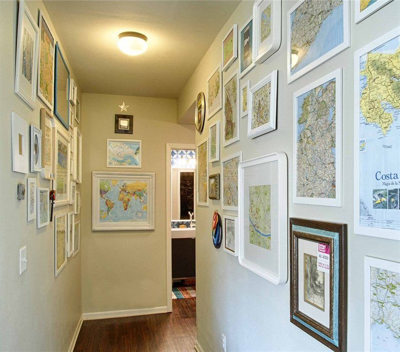 Inspiration: Fill your hallway\'s walls with maps from all your ...