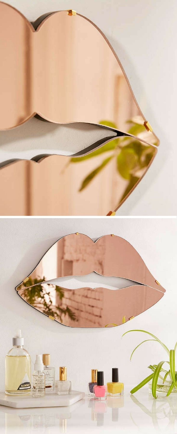 decorative mirrors for bathroom. This Mirror Would Look Great Over A Vanity | Urban Outfitters Lips Fun Bathroom Decor Decorative Rose Gold Mirrors For