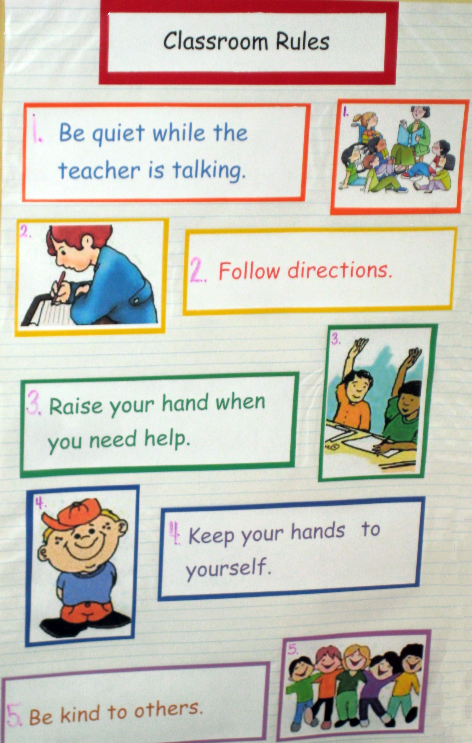 Classroom Rules Mary Wallis