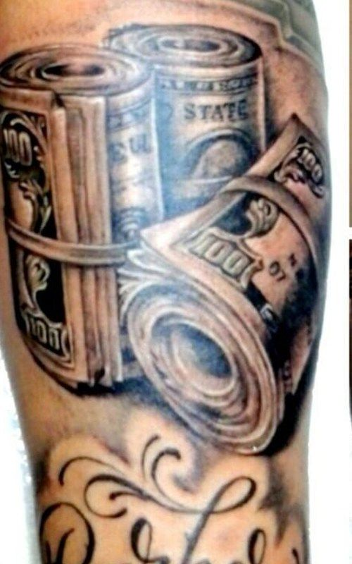 Money Tattoos Meanings and Design | Money tattoo, Money ...