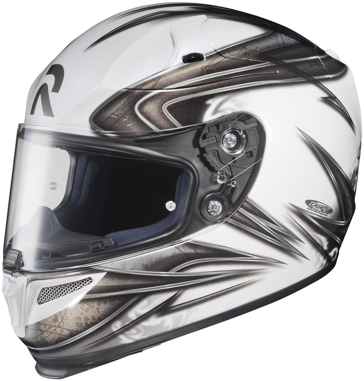 Hjc rpha evoke full face street helmet whitegraysilver xx