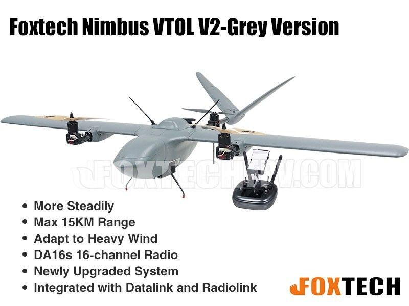 Foxtech Nimbus VTOL V2 Aircraft for Mapping and Survey