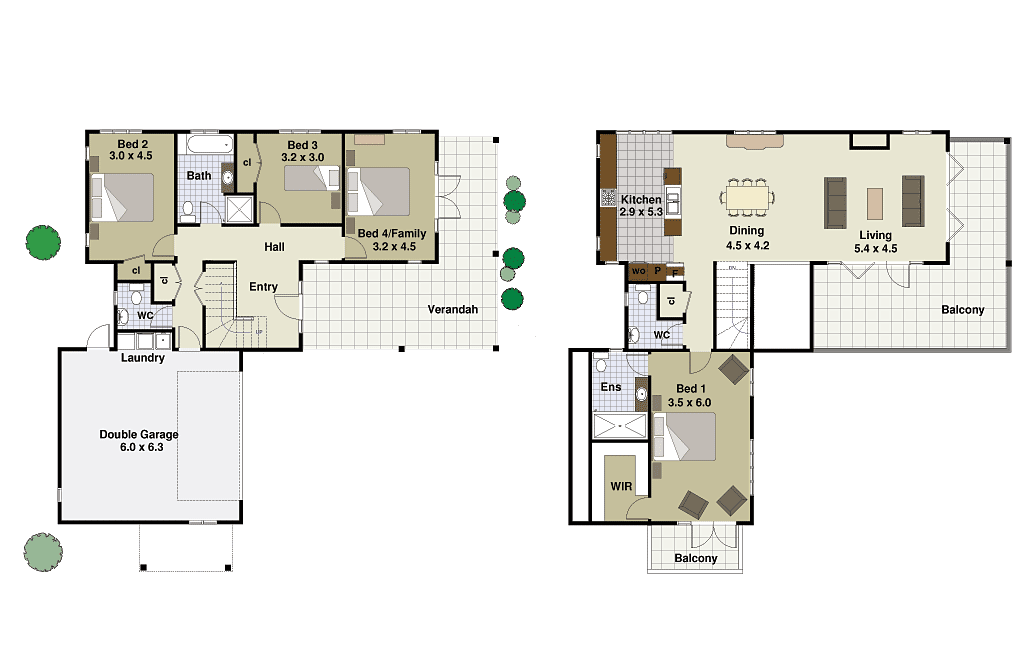 Glamorous 2 Storey Modern House Plans Ideas - Best idea home .