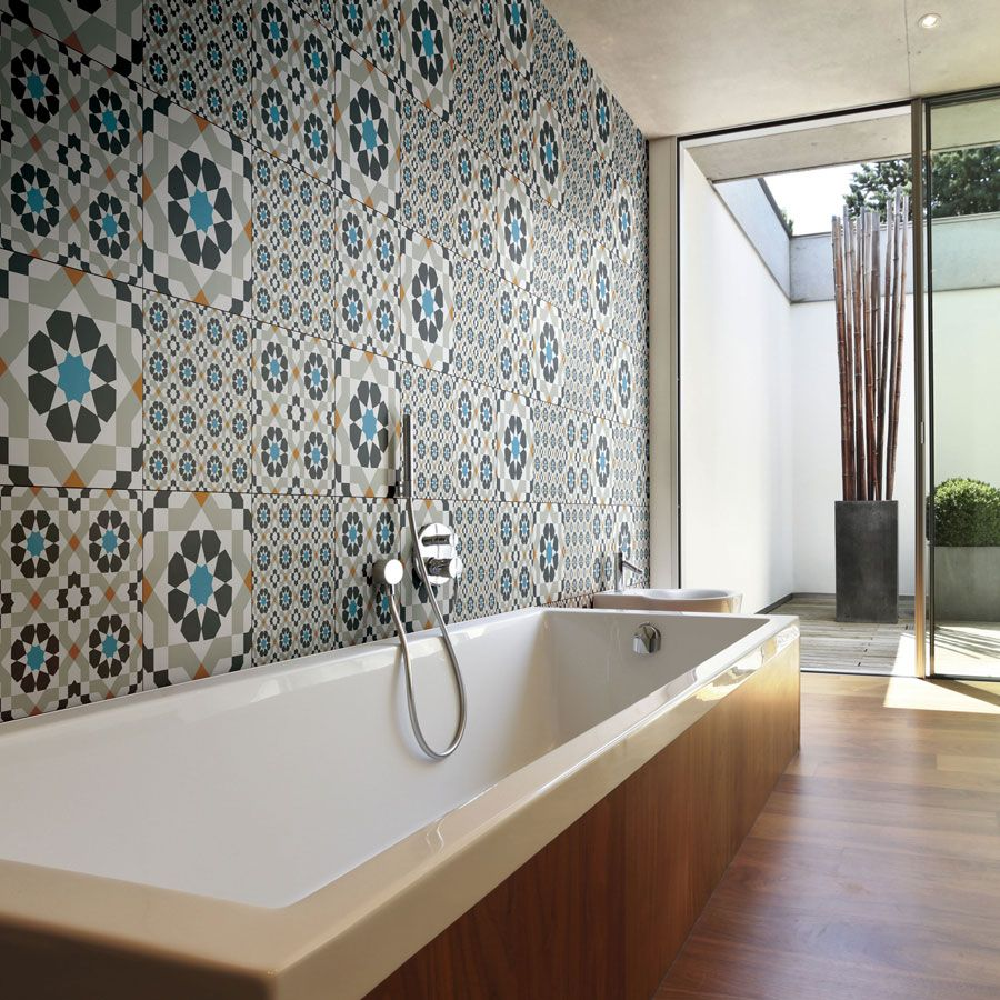 Trend Watch: Playing With Pattern | Tile bathroom ...