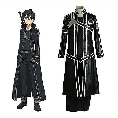 aeb660929d12a Sword-Art-Online-Kirigaya-Kazuto-Cosplay-Cloak-Black-Long-Clothes ...