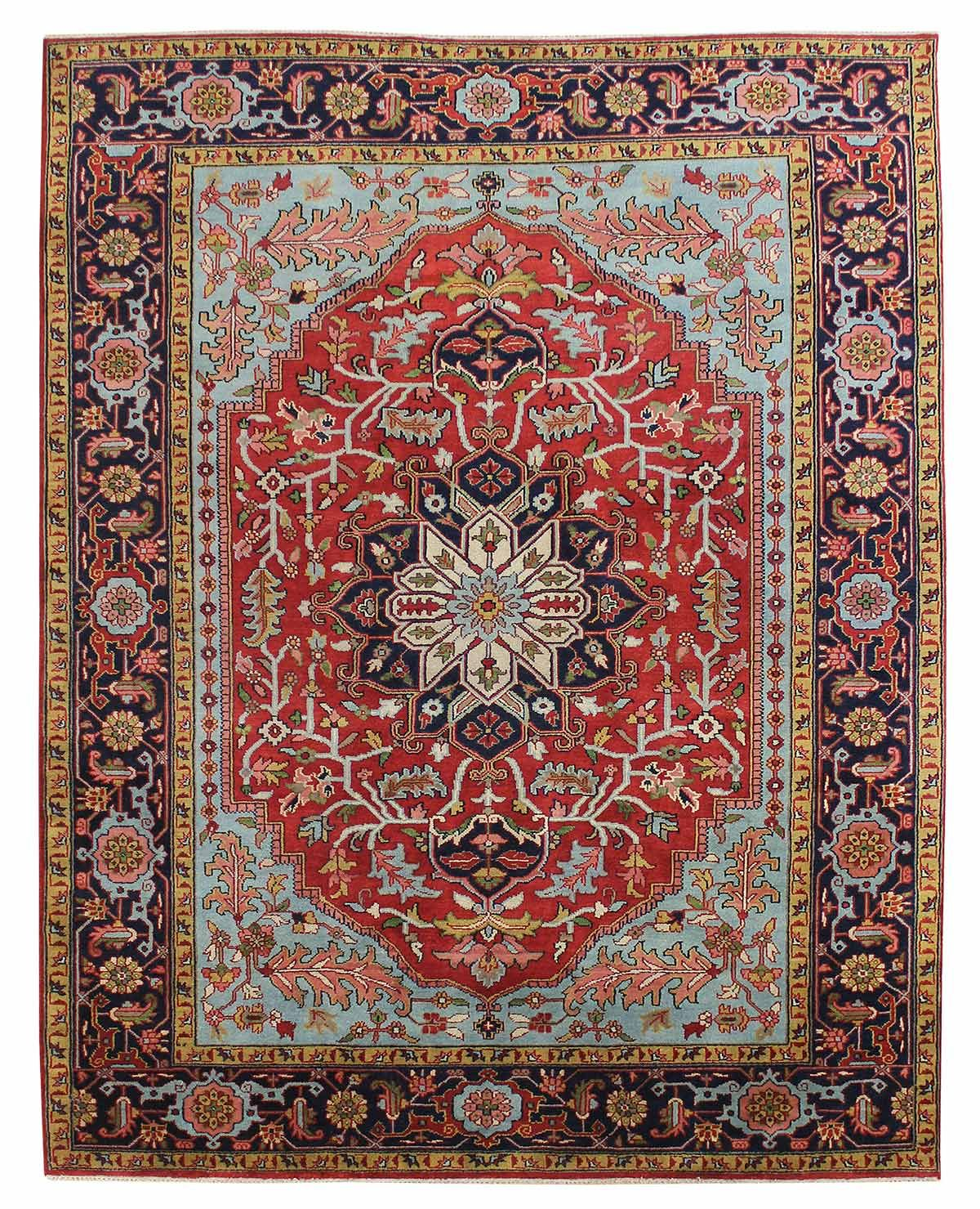 Best Value Traditional Rugs Gallery Serapi Design Rug Hand Knotted In India