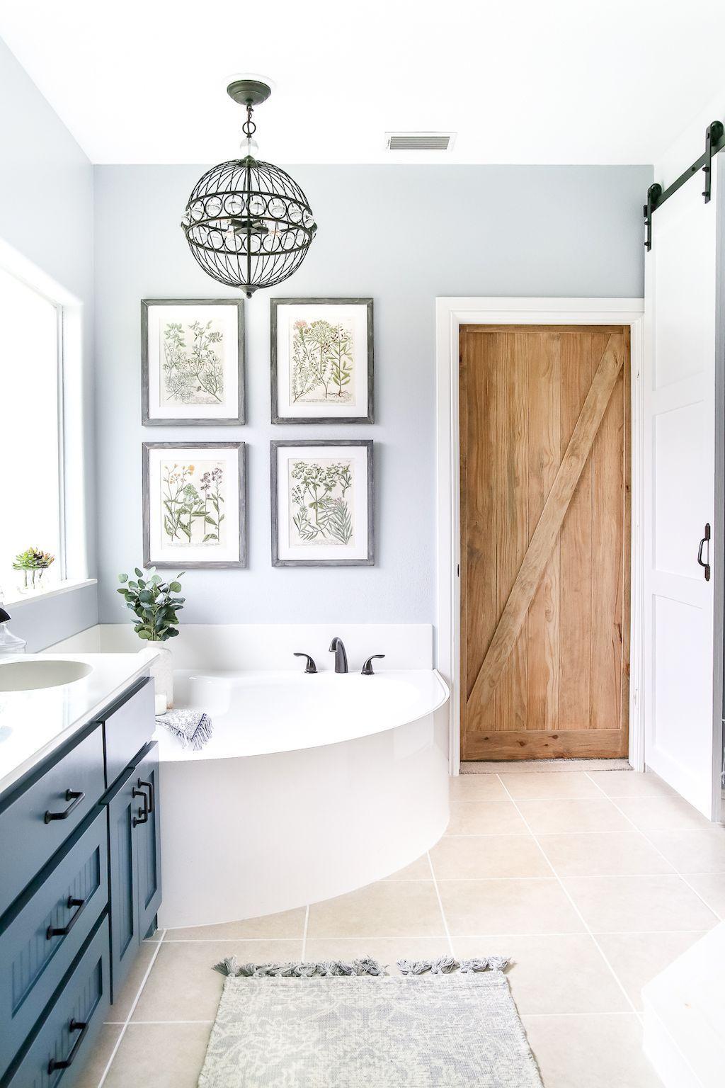 50 rustic farmhouse master bathroom remodel ideas (1 | Master ...