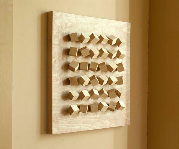 Modern Wall Art Sculpture Hanging Geometric Abstract Etsy Wall Sculpture Art Wood Wall Sculpture Modern Wall Art