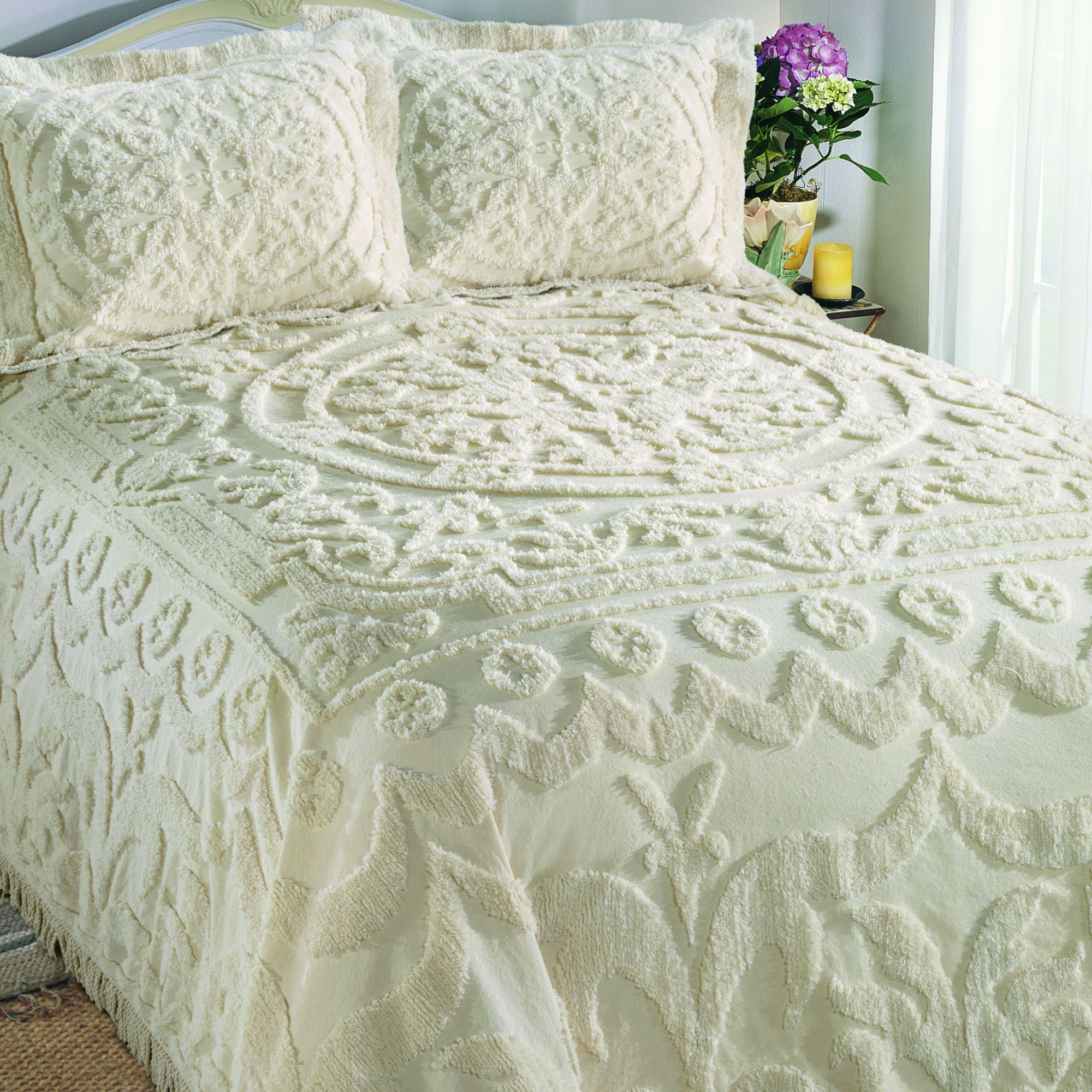 Shabby Chic Chenille Bedspread Chenille Bedspreads