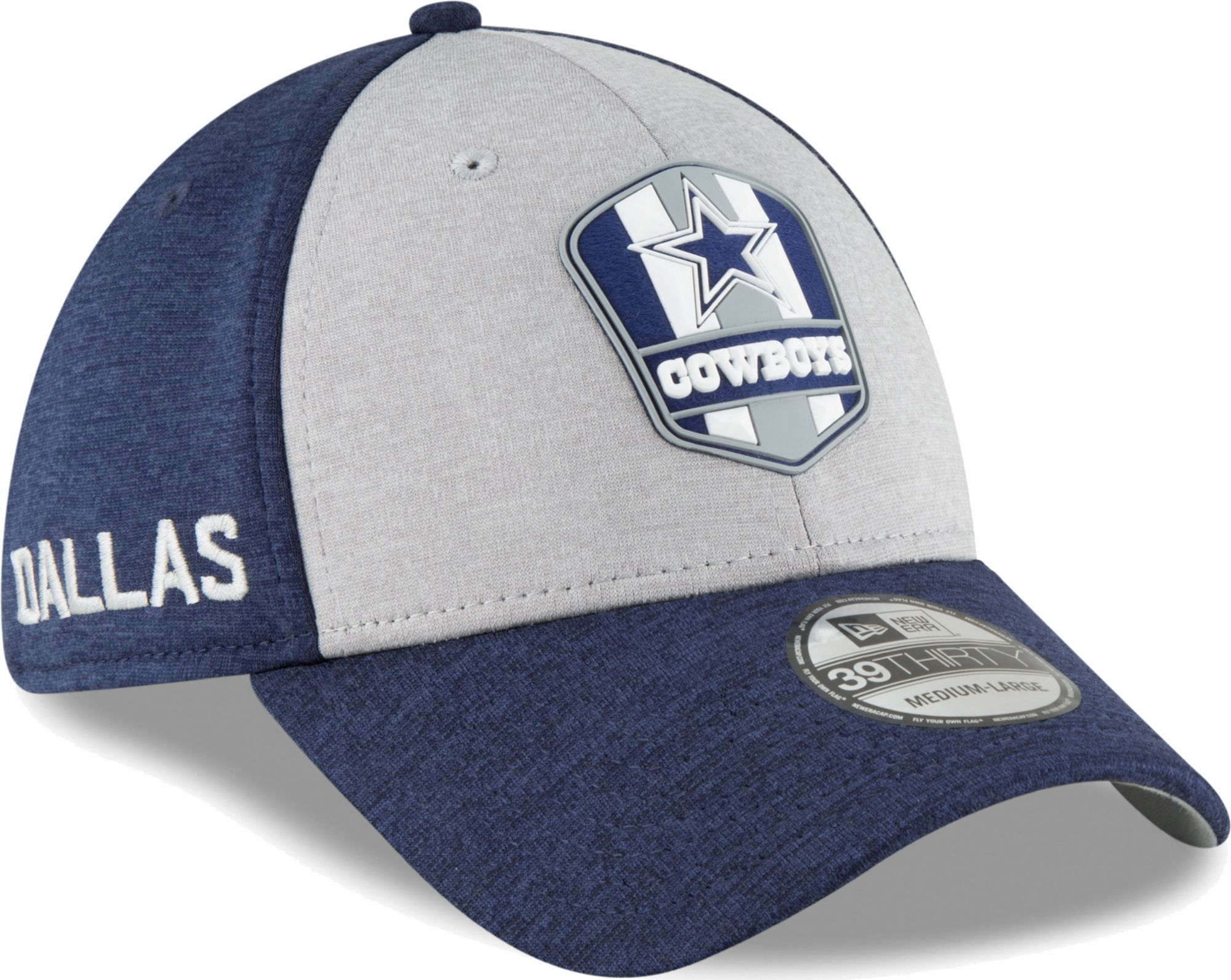 a1b131ca New Era Men's Dallas Sideline Road 39Thirty Stretch Fit Hat, Gray ...
