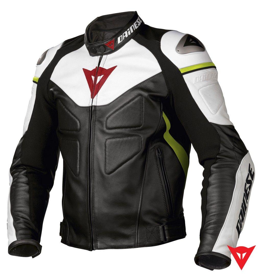 (Limited Supply) Click Image Above: Dainese Avro Pelle Leather Motorcycle  Jacket Xx-large (size Black/white/blue