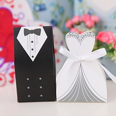 Bride And Groom Quality Box With Ribbon Directly From China Gift Suppliers New Arrival Wedding Favor