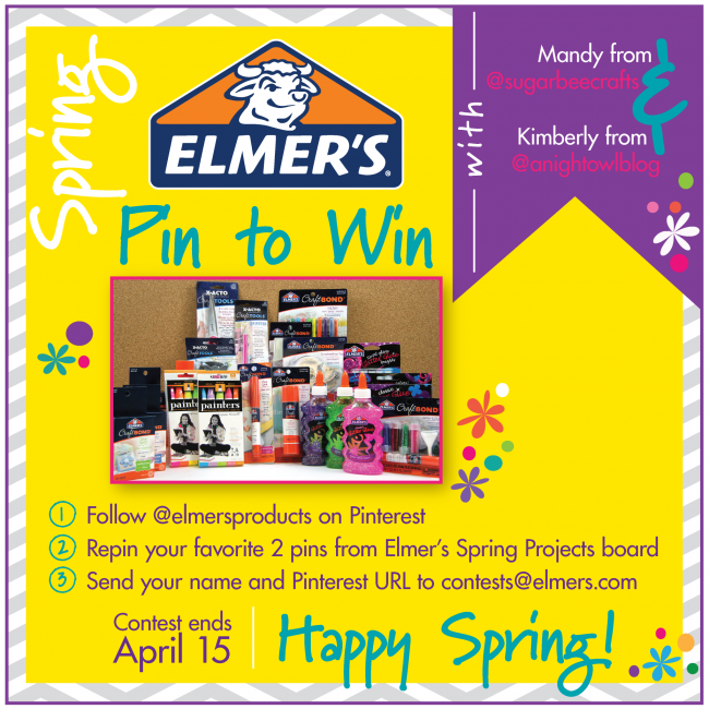 Pin to Win with @Elmer Marquez's! WIN Elmer's supplies! Ends April 15th.
