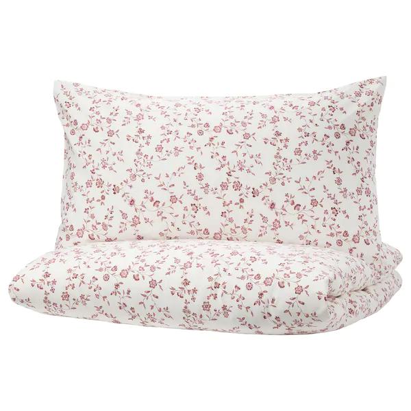 Hassleklocka Housse De Couette Et Taie S Blanc Rose Ikea