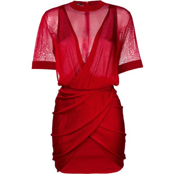 Balmain Ruched Mini Dress 2 490 Liked On Polyvore Featuring Dresses