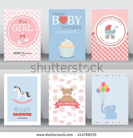 Happy birthday holiday baby shower celebration greeting and happy birthday holiday baby shower celebration greeting and invitation card layout template in a4 size vector illustration text can be added stopboris Images