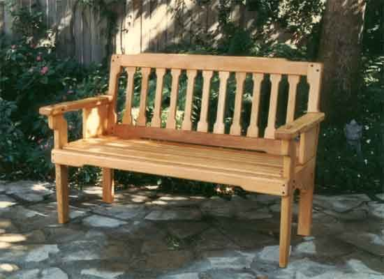 Outdoor Bench Front Porch Curb Appeal
