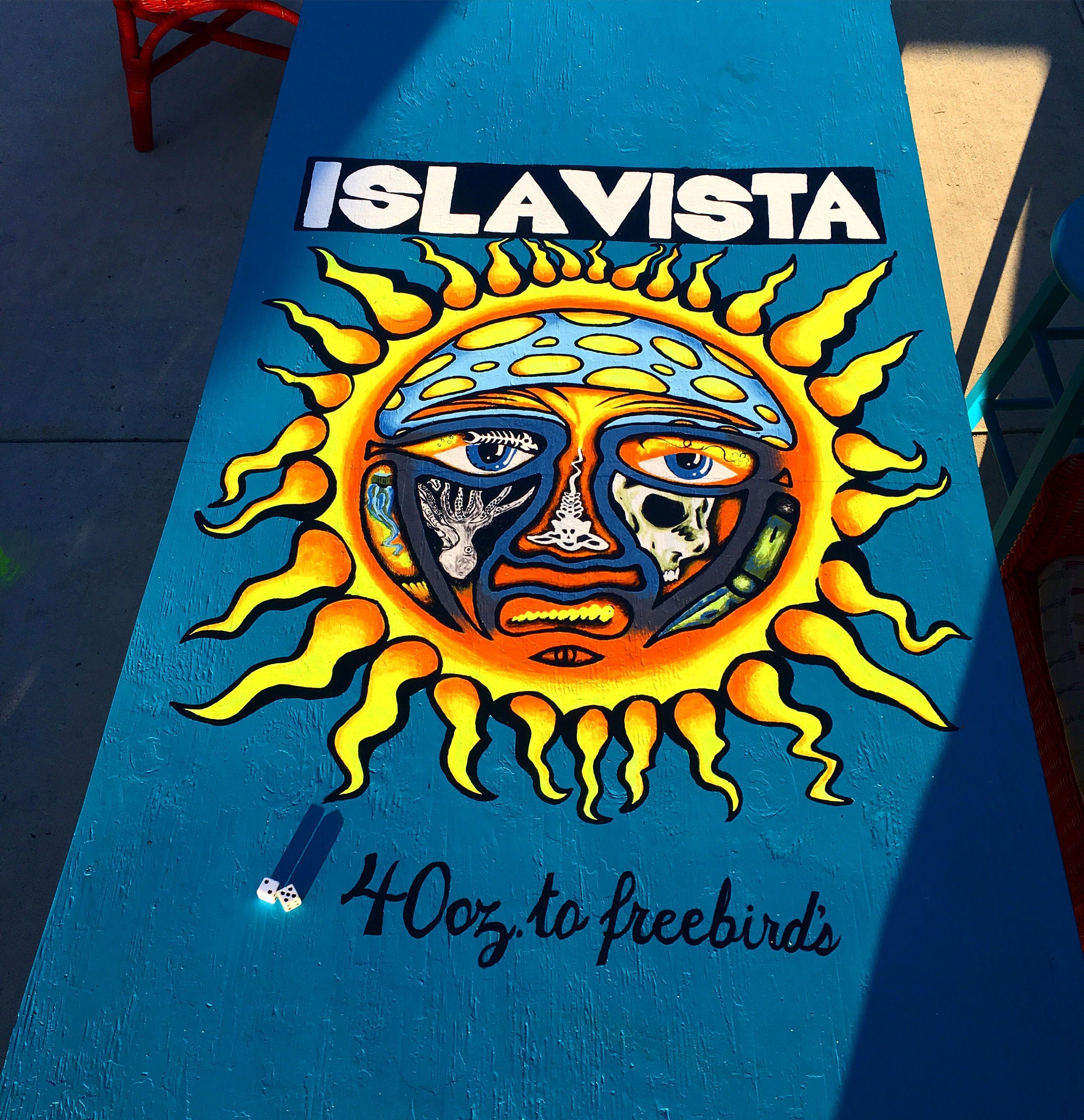 beer die table painted by moi & kass #beerdie #art #sublime #sunny