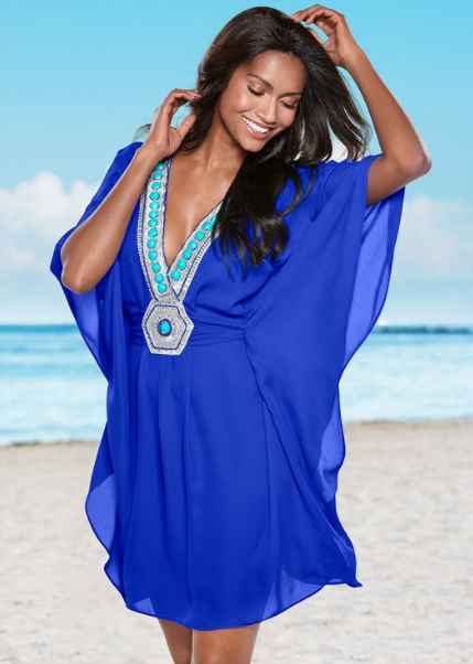 4ca25e4bae Embellished v-neck poncho | Stuff to buy | Venus clothing, Bathing ...