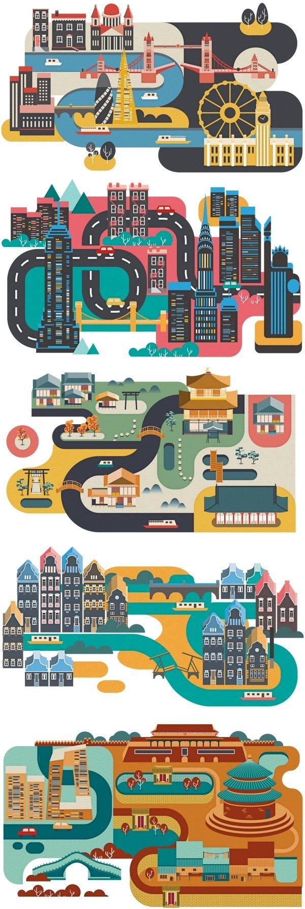 Cities by Jing Zhang #infographics