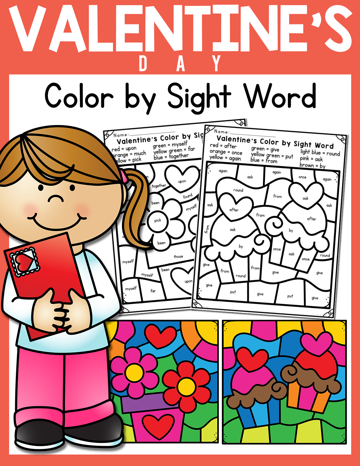 Valentine S Day Color By Sight Word In