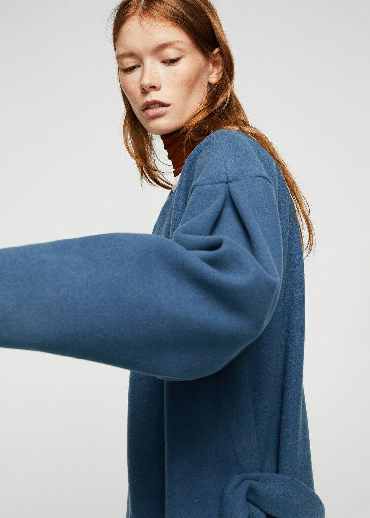 Mango Puffed Sleeves Coat Mango Coats Puff Sleeve Fashion