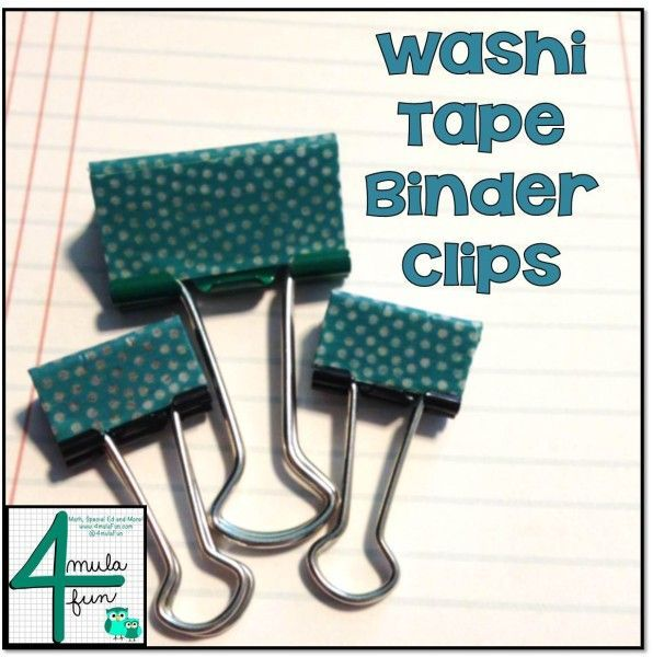 Washi Tape, Binder Clips, Washi