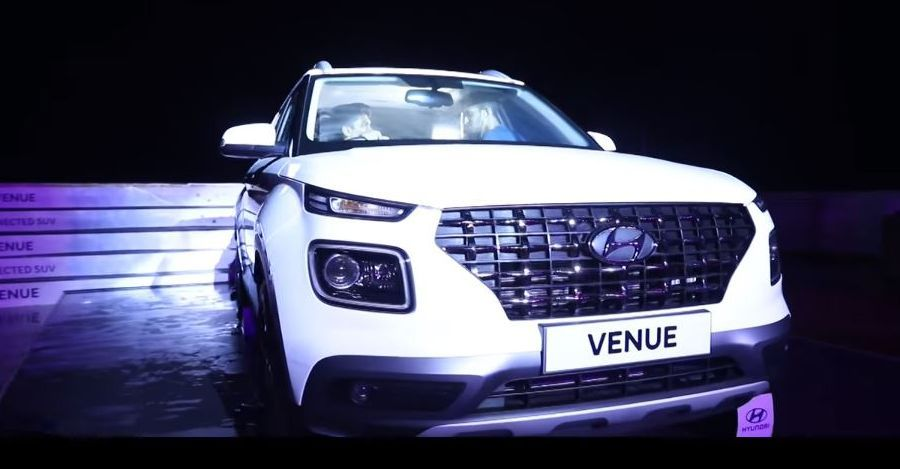 Hyundai Venue Watch It Getting Unveiled On A Ship Off The Indian