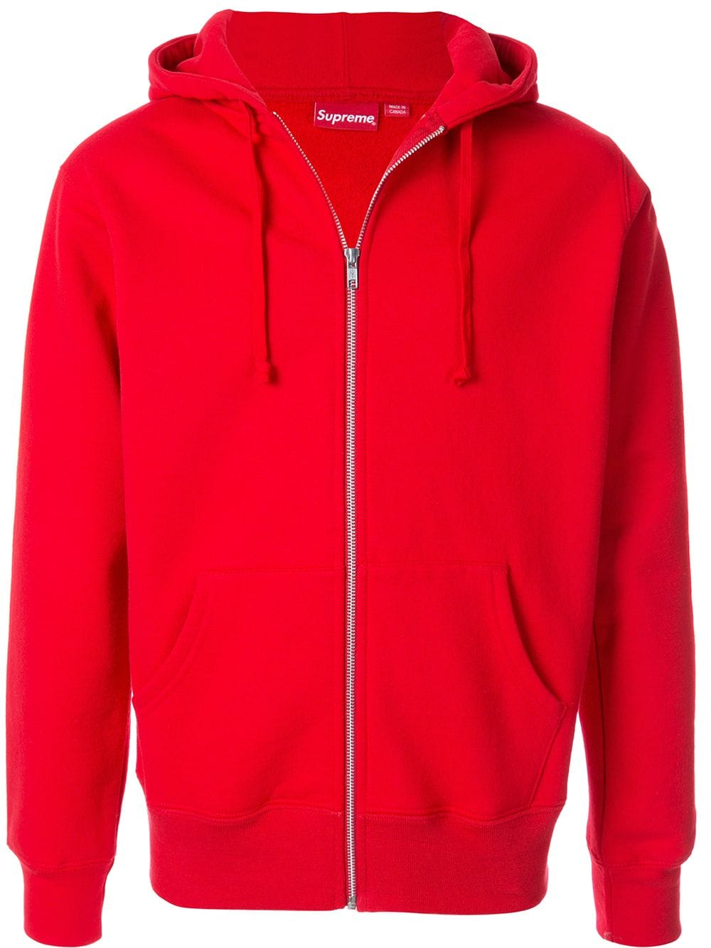 Supreme Rib Zip Up Hoodie In Red | ModeSens | Hoodies, Zip