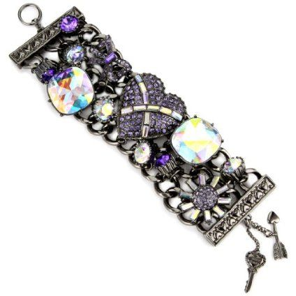 Betsey Johnson Iconic Violet Toggle Bracelet