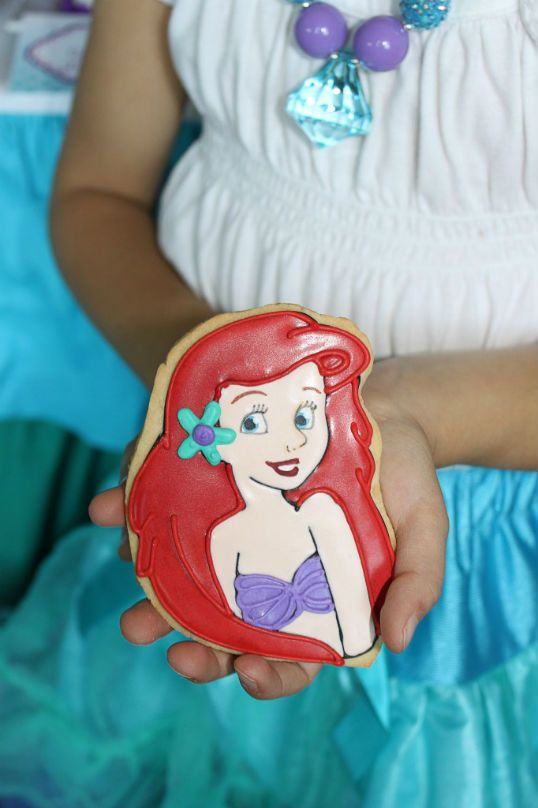 Birthday Party Ideas - Blog - MERMAID ~ ARIEL-INSPIRED~ UNDER THE SEA BIRTHDAY PARTY IDEAS-ARIEL COOKIE