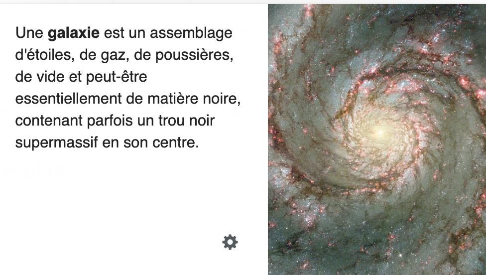 Galaxie Definition Trou Noir Matiere Noire Galaxie