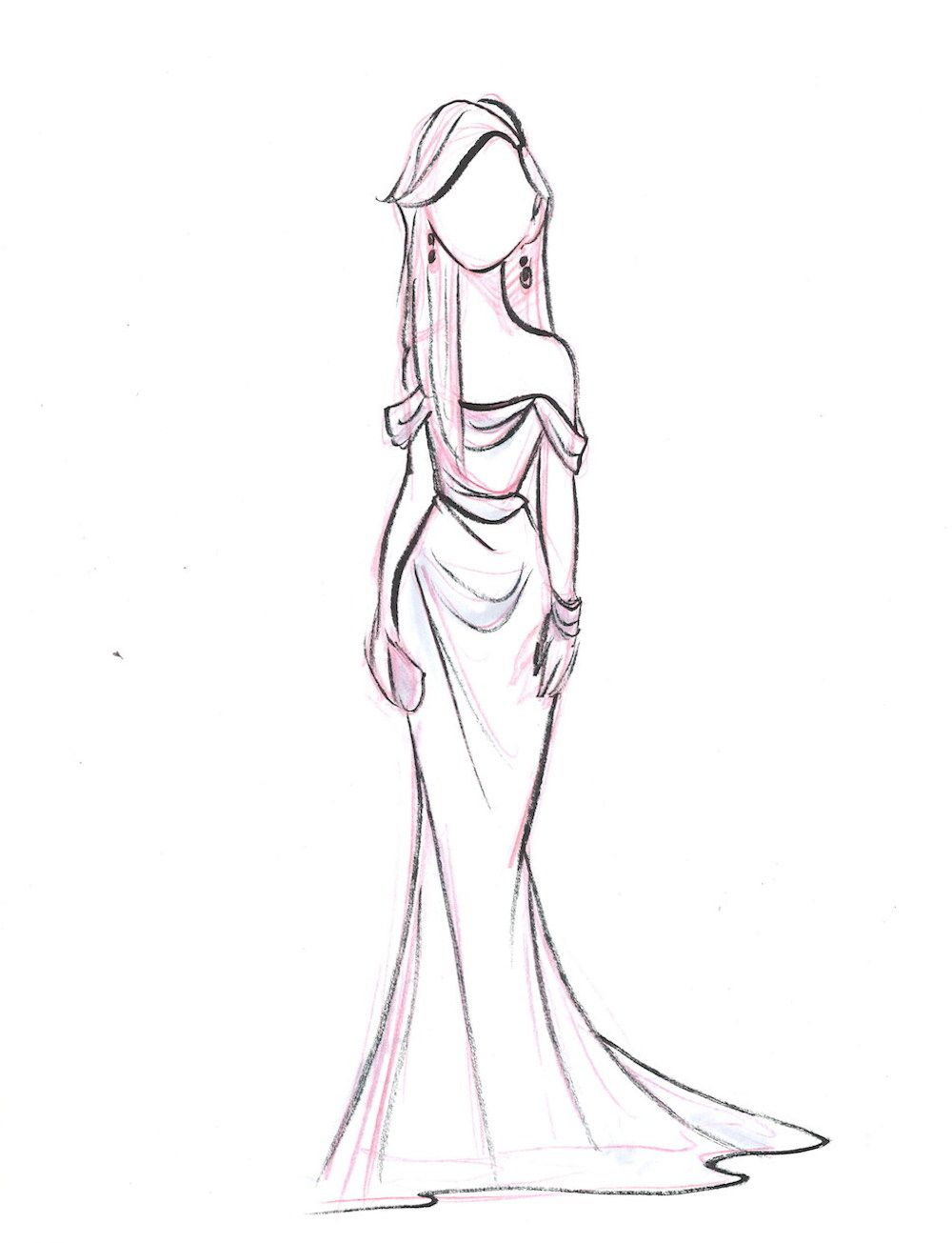 by pernille |Red Carpet Dresses Drawings