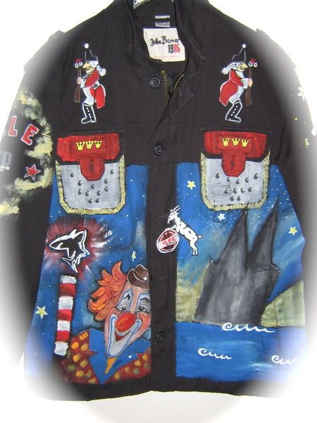 LED Jacke für Herren Faschingsjacke mit Goldborte